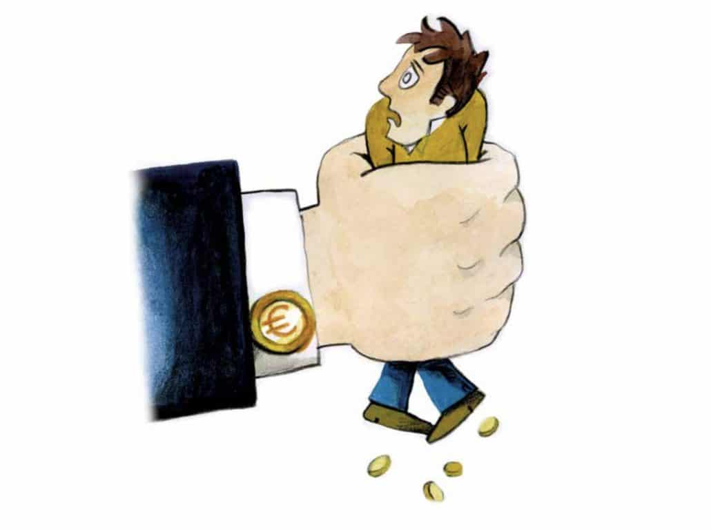 Freundes abbezahlen des Schulden Kredit abzahlen