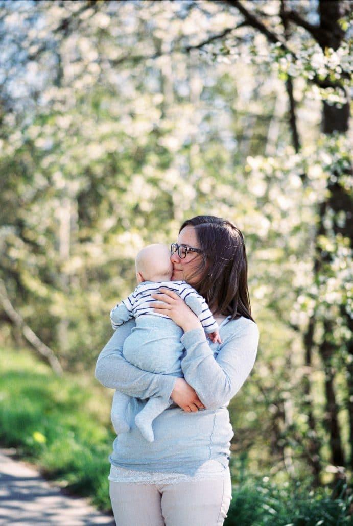 Lea Bauer, Lehrerin, seit 12 Jahren verheiratet, 1 Sohn, 2 Töchter (eine davon still geboren), aus Schorndorf. Foto: Sophie Kröher