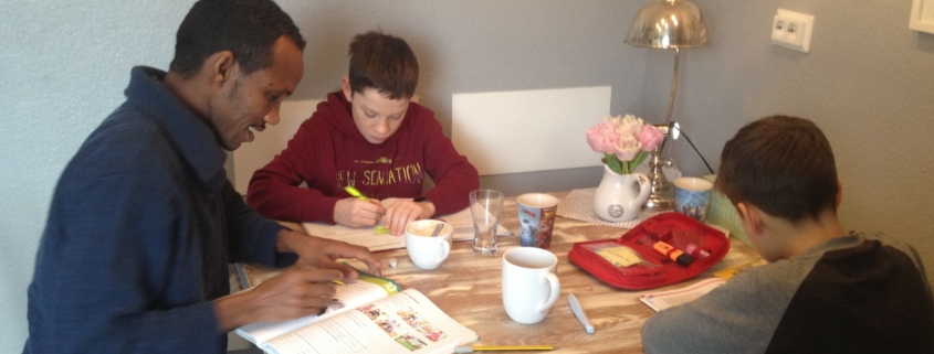 Eremia lernt deutsch, Foto: Privat